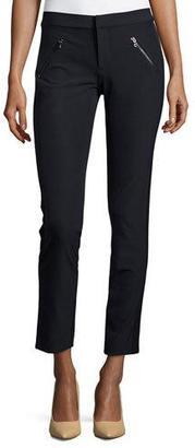 Rebecca Taylor Ava Slim-Leg Techno Pants $295 thestylecure.com