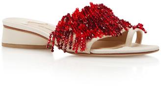 Rosie Assoulin Swarovski Slides $1,195 thestylecure.com