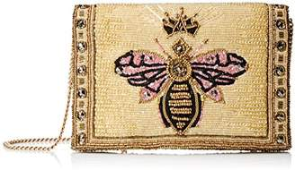 Mary Frances Buzzed Beaded/Embroidered Queen Bee Crossbody Clutch