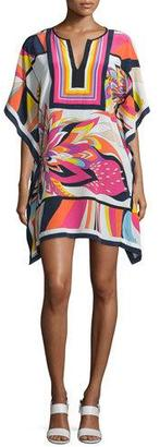 Trina Turk Butterfly-Sleeve Printed Caftan $298 thestylecure.com