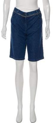 Chanel Mid-Rise Denim Shorts