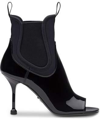 Prada Patent leather and neoprene booties