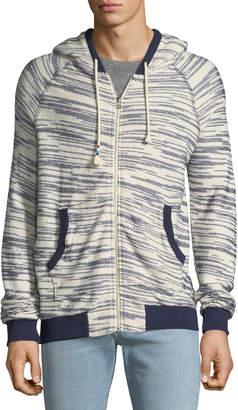 Sol Angeles Space-Dye Tweed Zip-Front Hoodie