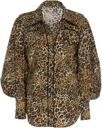 Johanna Ortiz African Roots Cotton Puff Sleeve Shirt