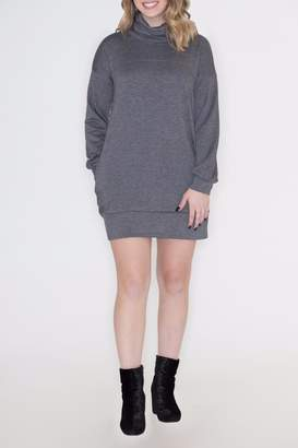 Cherish Cowl Sweatshirt Dress