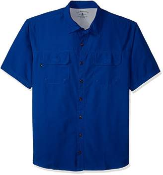 G.H. Bass & Co. Men's Big and Tall Explorer Fancy Short Sleeve Button Down Shirt