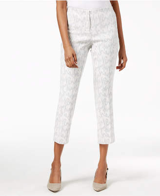 Alfani Metallic Jacquard Capri Pants, Created for Macy's