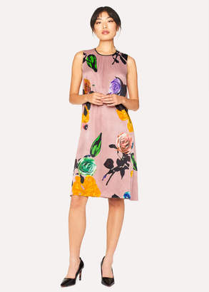 Paul Smith Women's Pink 'Rose' Print Dress