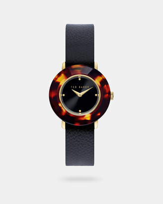 Ted Baker KATYAA Reversible leather slip-through strap watch