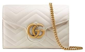 Gucci GG Marmont Matelasse Leather Wallet on a Chain