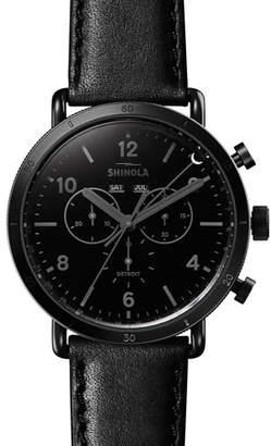 Shinola Men's 45mm Canfield Sport Blackout Chrono Watch