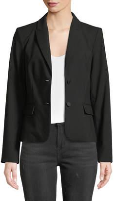 Iconic American Designer Two-Button Lux Blazer Jacket
