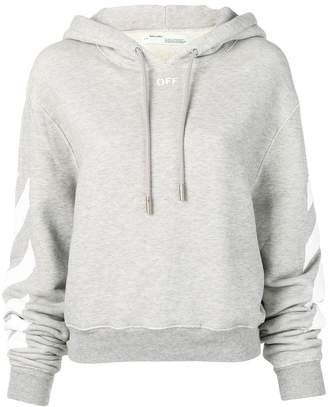 Off-White printed sleeves hoodie
