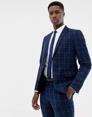 ONLY & SONS slim checked suit jacket