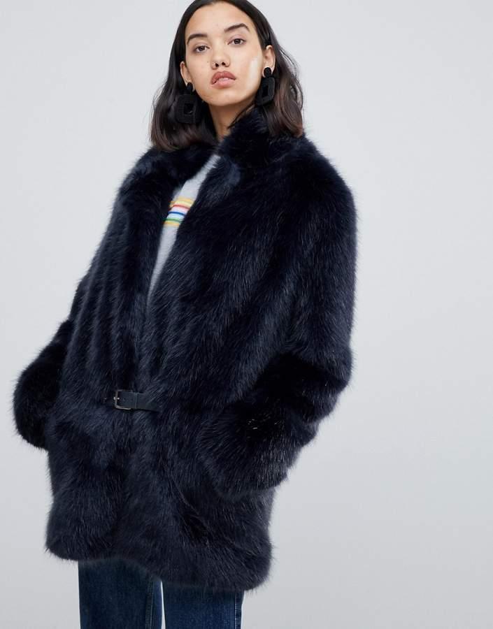 Urbancode Bailey faux fur car coat