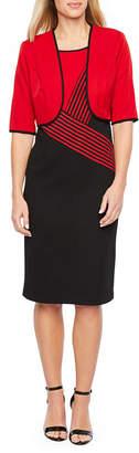 MAYA BROOKE Maya Brooke Sleeveless Jacket Dress
