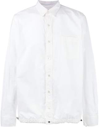 Sacai drawstring waist shirt
