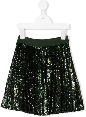 MonnaLisa pleated sequin skirt