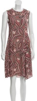 Marni Abstract Print Sleeveless Dress Pink Abstract Print Sleeveless Dress