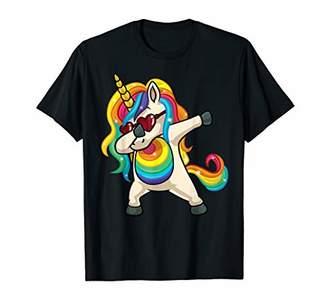 Dabbing Unicorn Gay Pride LGBT Rainbow Womens T Shirt