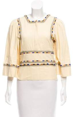 Isabel Marant Embroidered Long Sleeve Top