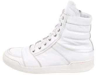 Balmain Leather High-Top Sneakers