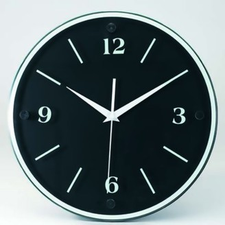 """Victory Light Tempus 12"""" Wall Clock with Black Wood Frame and Daylight Saving Time Auto-Adjust Movement"""