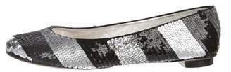 Dolce & Gabbana Metallic Sequined Flats