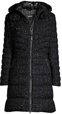 Mackage Women's Lara Tweed Puffer Coat