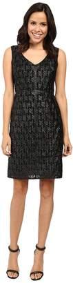 NUE by Shani Sleeveless Leather Novelty Dress Women's Dress
