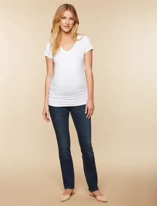 Motherhood Maternity Petite Secret Fit Belly Stretch Straight Leg Maternity Jeans