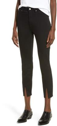 Leith High Waist Split Hem Skinny Jeans