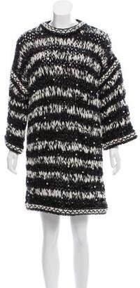 Chanel Paris-Dallas Embellished Sweater Dress