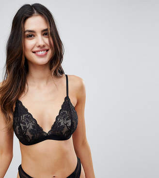 Wolfwhistle Wolf & Whistle Black Lace Triangle Bra