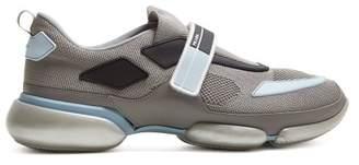 Prada - Cloudbust Low Top Knit Trainers - Mens - Grey