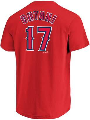 Majestic Men's Los Angeles Angels of Anaheim Shohei Ohtani Name and Number Tee