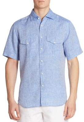 Saks Fifth Avenue COLLECTION Regular-Fit Linen Shirt
