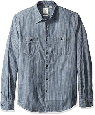 Dockers Slim Chambray Long Sleeve Button Front Woven Shirt