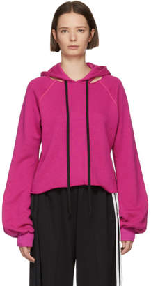 Unravel Pink Cotton and Cashmere Hoodie