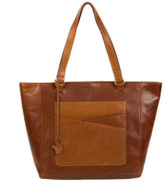 At Debenhams Conkca London Conker Brown And Dark Tan Monique Handmade Leather Tote Bag
