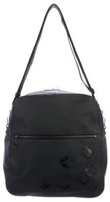 Bottega Veneta Crocodile-Trimmed Messenger Bag