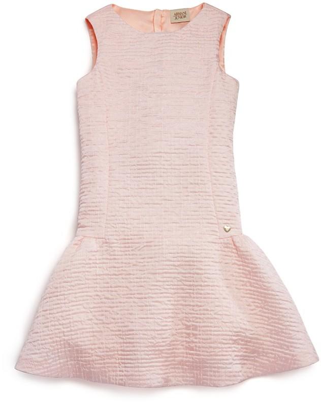Armani JuniorArmani Junior Girls' Crinkled Satin Drop Waist Dress - Sizes 4-16