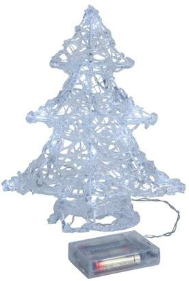 clear Star 583-18 21 x 25 cm Tree Battery Operated 16 Cool White LED Christmas Tree,