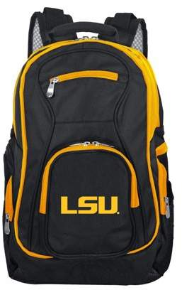 NCAA Mojo Licensing Louisiana Tigers Premium Laptop Backpack with Colored Trim