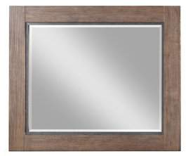 Emerald Home Viewpoint Driftwood Gray Mirror with Wood And Metal Frame