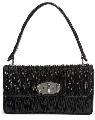 Miu Miu Vernice Matelasse Quilted Leather Shoulder Bag