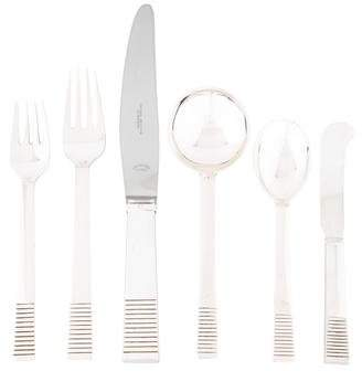Georg Jensen 72-Piece Parallel Flatware Set