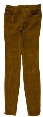 J Brand Mid-Rise Skinny Corduroy Pant
