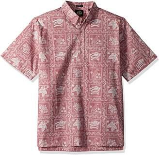 Reyn Spooner Men's Lahaina Sailor Spooner Kloth Classic Pullover Hawaiian Shirt