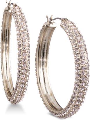 """DKNY Micro-Pave 1 2/3"""" Hoop Earrings"""